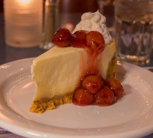 Cherry Cheese Cake - Castle Hill Supper Club - restaurant and banquet facility