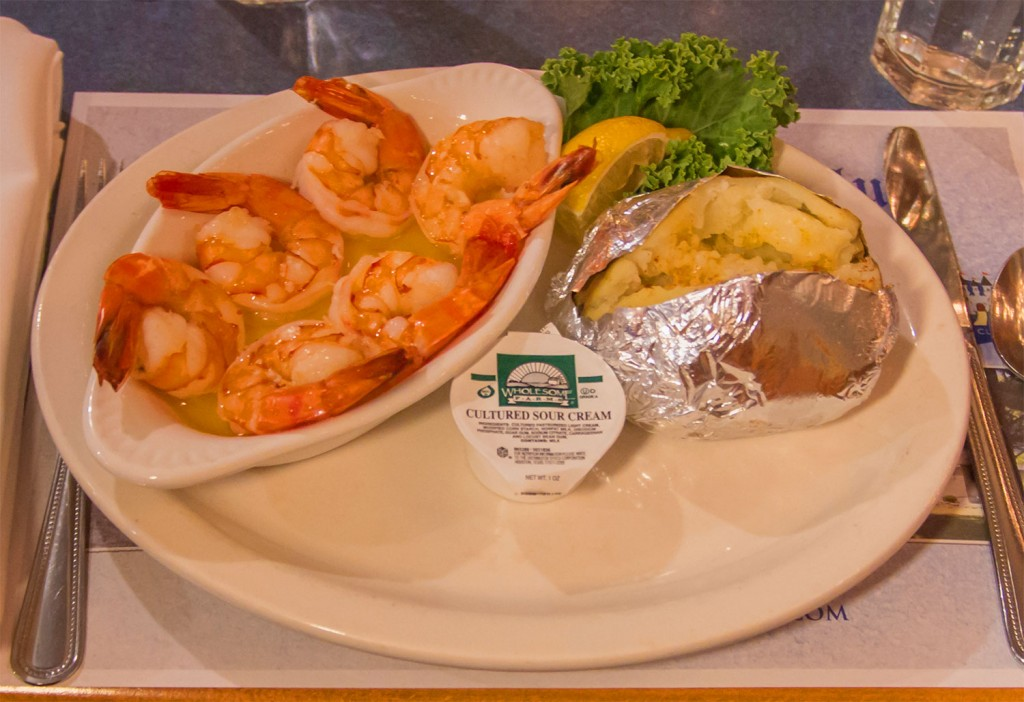 shrimp scampi - Castle Hill Supper Club - restaurant and banquet facility
